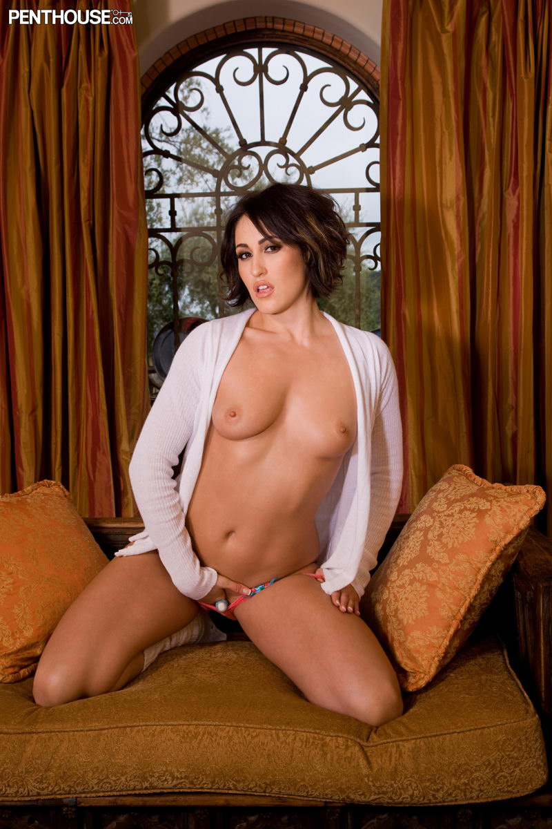Ryan Keely Penthouse Pet Of The Month October Posing Nude In Legwarmers